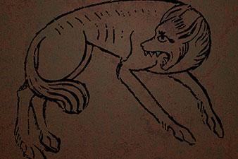 Tattooed Wolf