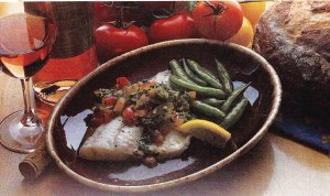 poached walleye