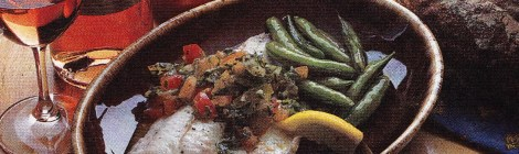 Poached Walleye in Tomato Sauce