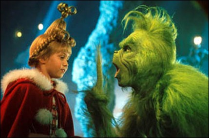 Taylor Momsen as Cindy Lou Who and Jim Carrey as the Grinch in ``How the Grinch Stole Christmas.''