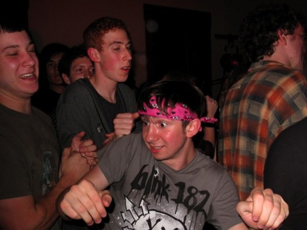 Pictured: A bright-eyed young freshman shakes his groove thang, eager to impress his lofty peers. Taken by Rachel Pincus '13.