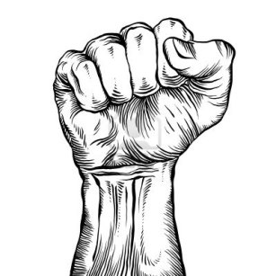 15275247-a-clenched-fist-held-high-in-protest