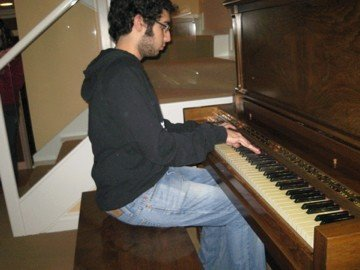 me on piano