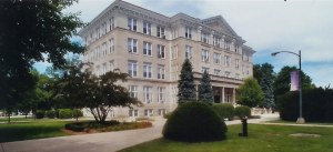 Burke Administration Building (three-quarter view), Olivet Nazarene University