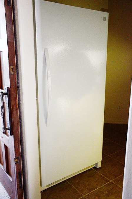 the big freezer that made us widen the pantry doorway