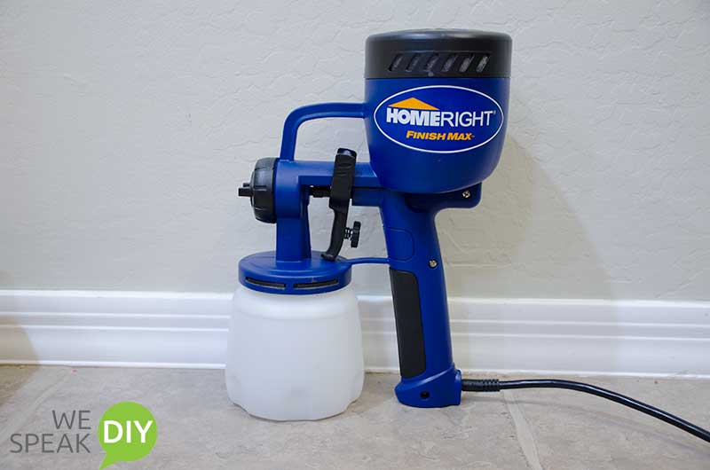 homeright paint sprayer used to paint wicker chairs
