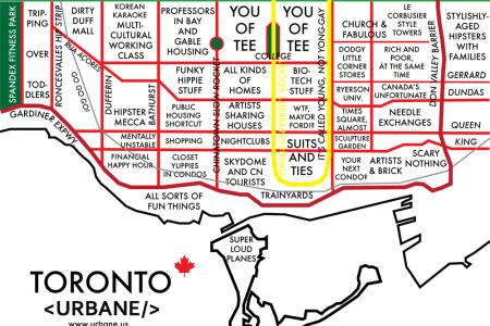 Map Of Torronto - Toronto us map