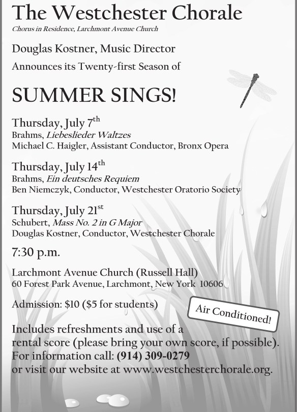 Summer Sings 2016 flier