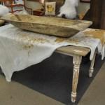 farmhouse table and dough bowl