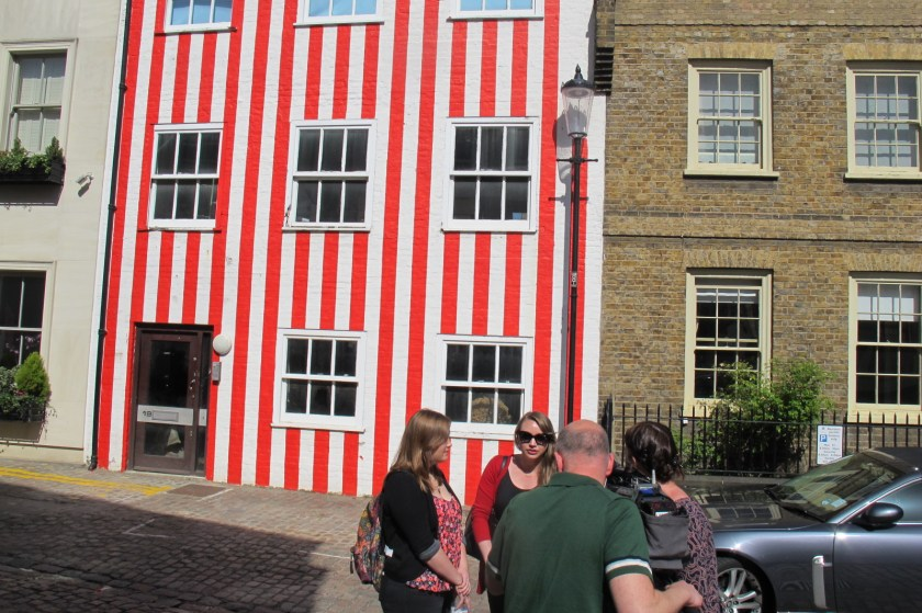Legal tussle: Kensington's Candy-stripe house has generated a lot of media interest and has now ended in court