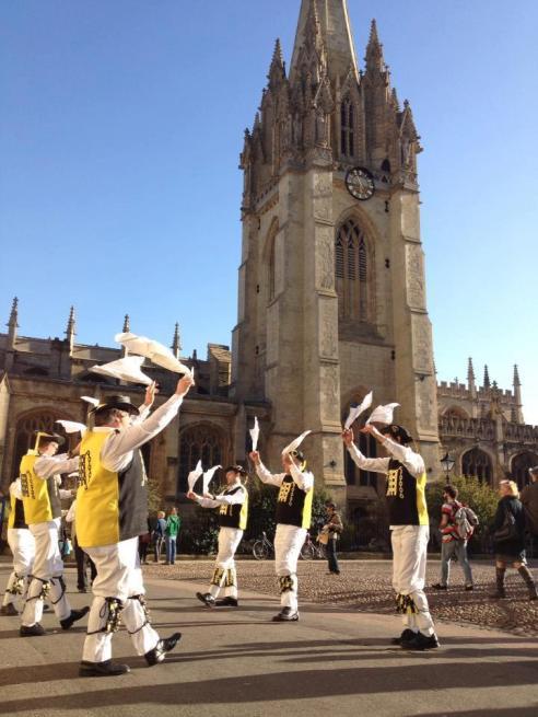Radcliffe Camera on Oxford Folk Weekend 2013