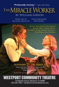 """The Miracle Worker,"" November 27 – December 13"