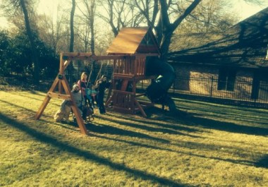Tulsa Wooden Swingset