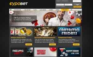 Im Eypobet Casino gibt es aktuell einen 100% Bonus bis zu 100€