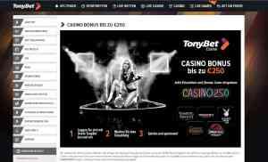 TonyBet Casino Bonus