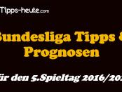 Bundesliga Prognose Statistik 5.Spieltag 2016/2017
