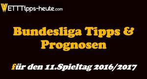 Bundesliga Wett-Tipps Quoten 11.Spieltag 2016 2017
