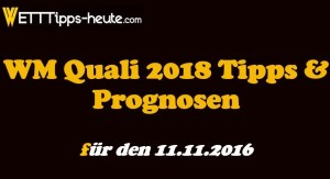 WM Quali Prognose Quoten 11.11.2016