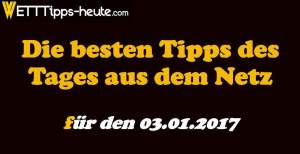 Sportwetten Tipps 03.01.2017