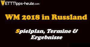WM 2018 Spielplan, Ergebnisse Termine