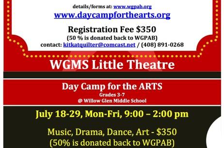Arts Summer camps 2016