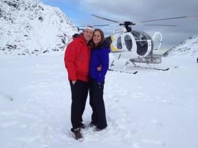 Justin & Kristin Butler Helicopter Franz Josef
