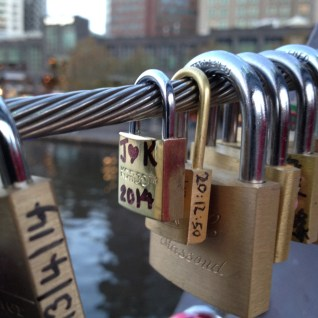 Love Lock Bridge Melbourne