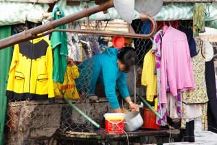 Washing on the Mekong River