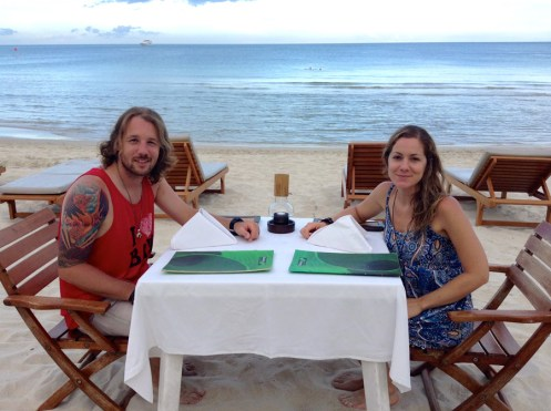 Justin & Kristin Butler Chaweng Beach