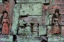 Detailed Temple Wall Angkor