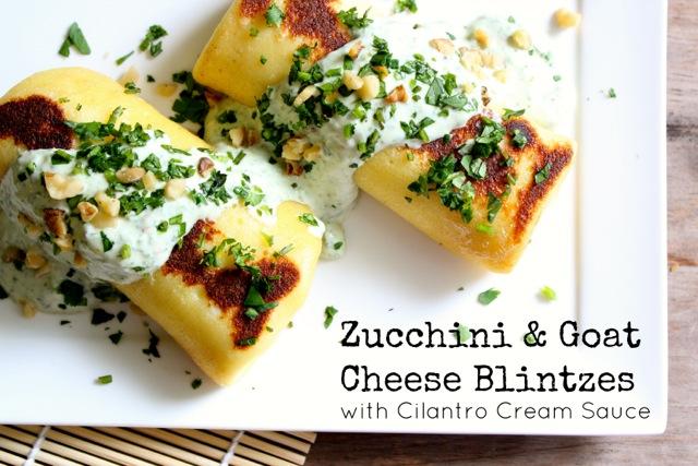Zucchini & Goat Cheese Blintzes 3