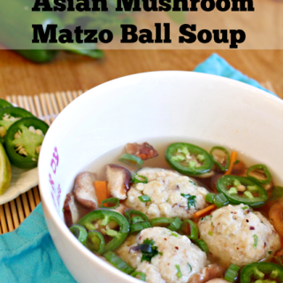 Asian Mushroom Matzo Ball Soup