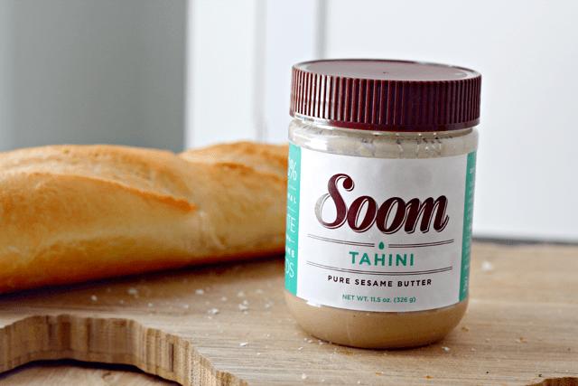 Beet Tahini Crostini