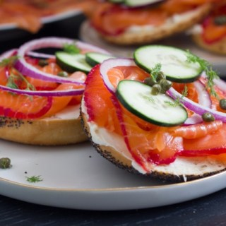 Bourbon and Beet Cured Lox