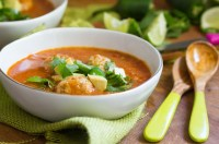 Matzah Ball Chicken Tortilla Soup