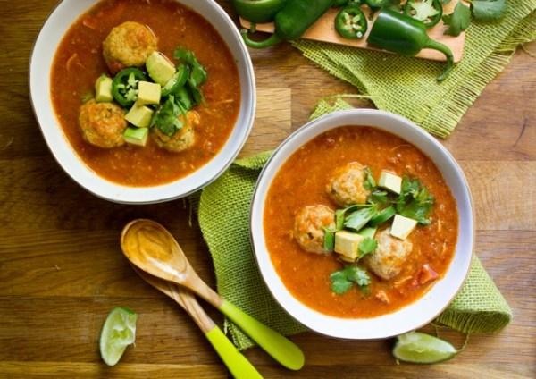 Matzah Ball Chicken Tortilla Soup