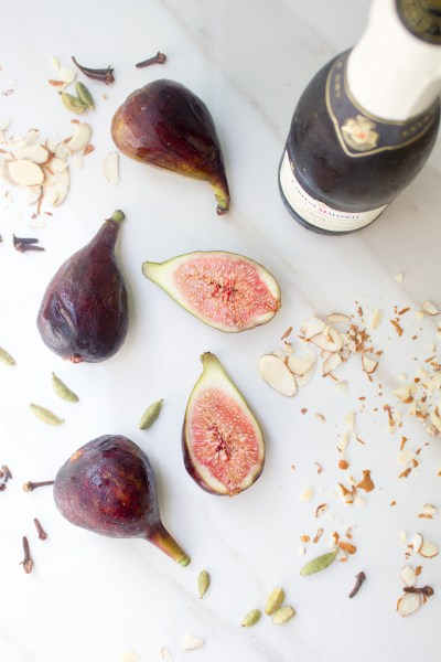 Poached Figs with Honey, Orange and Spices