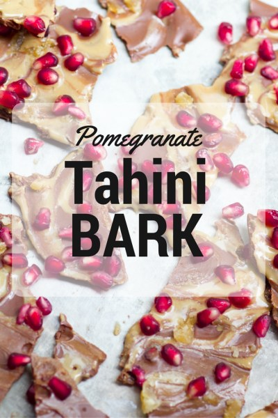 Pomegranate Tahini Bark