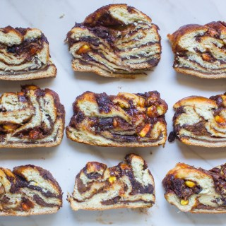 Pumpkin Chocolate Babka (With Candy Corn too!)