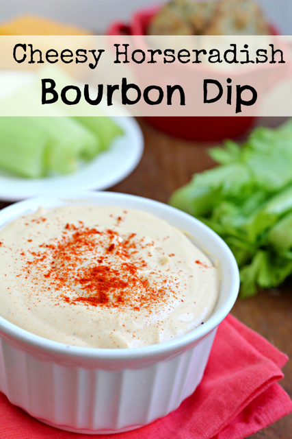 Cheesy Horseradish Bourbon Dip