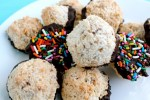 Rainbow Sprinkle and Sea Salt Chocolate Macaroons