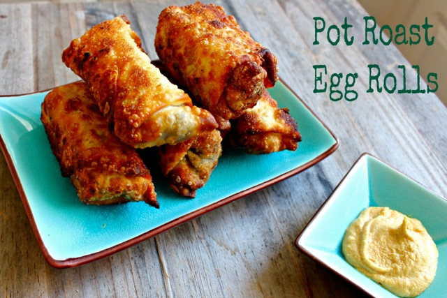 pot roast egg rolls