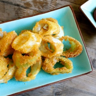 Fried Leek Rings and Homemade Ketchup