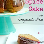 Honey Spice Cake with Pomegranate Glaze