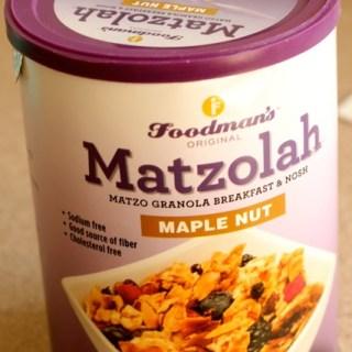 Matzolah Passover Granola Winner!