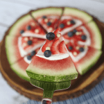 Patriotic Watermelon Pizza. ARed, White and Blue Crowd-Pleaser For Your 4th Of JulyCelebration