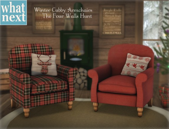 {what next} Winter Cubby Armchair Promo