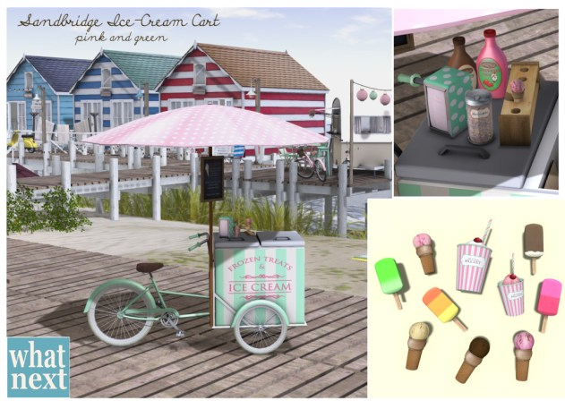 {what next} Sandbridge Cart V2 - Pink&Green