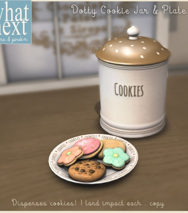 {what next} Dotty Cookie Jar & Plate for Wayward Hunt 800