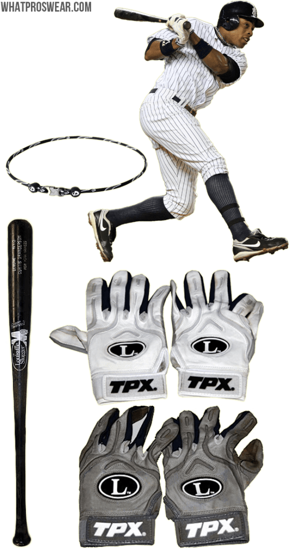 curtis granderson bat, curtis granderson batting gloves, curtis granderson necklace, louisville slugger m9 m110, tpx bionic batting gloves, phiten x30 razor